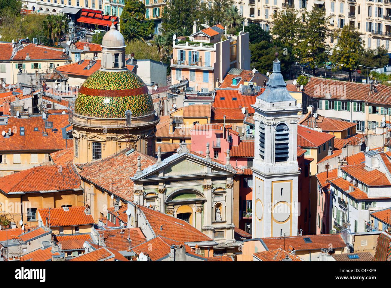 Europe, France, Alpes-Maritimes (06), vieille ville de Nice, la Cathédrale Sainte Reparate Photo Stock