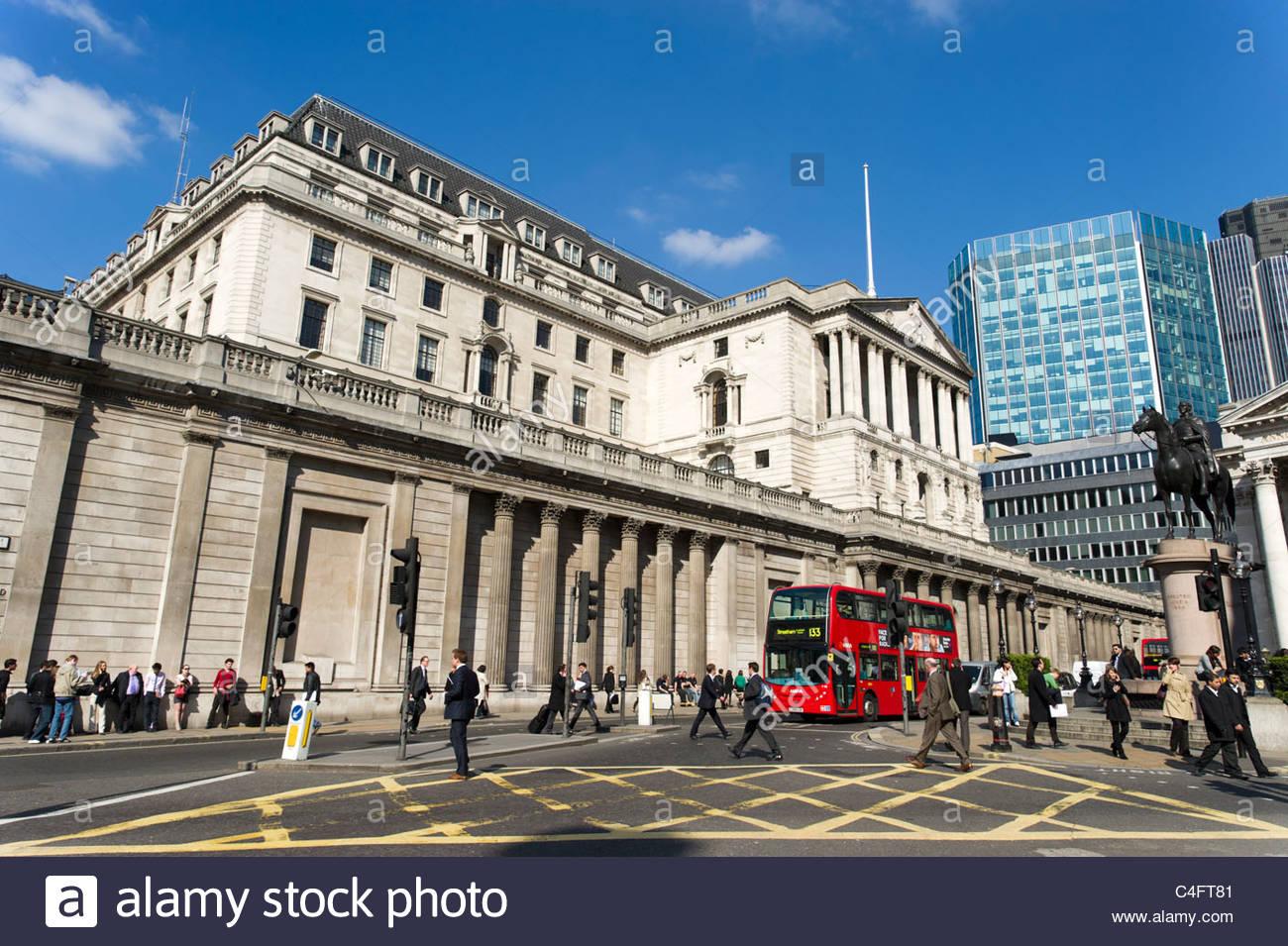 La Banque d'Angleterre, Londres, UK Photo Stock