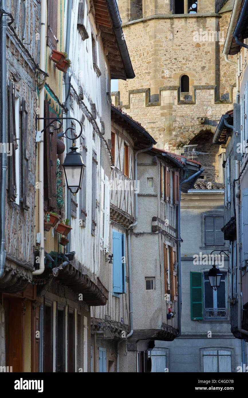 Maisons à pans de bois, Languedoc, France Soreze Photo Stock