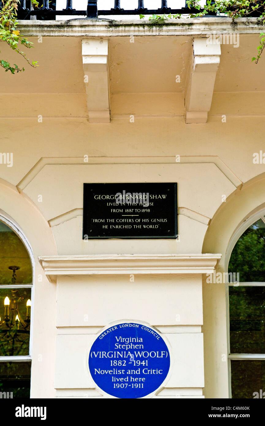 Fitzroy Square à Londres - le coeur de Bloomsbury, accueil du bloomsbury group; Wohnort Bloomsbury der Gruppe Banque D'Images