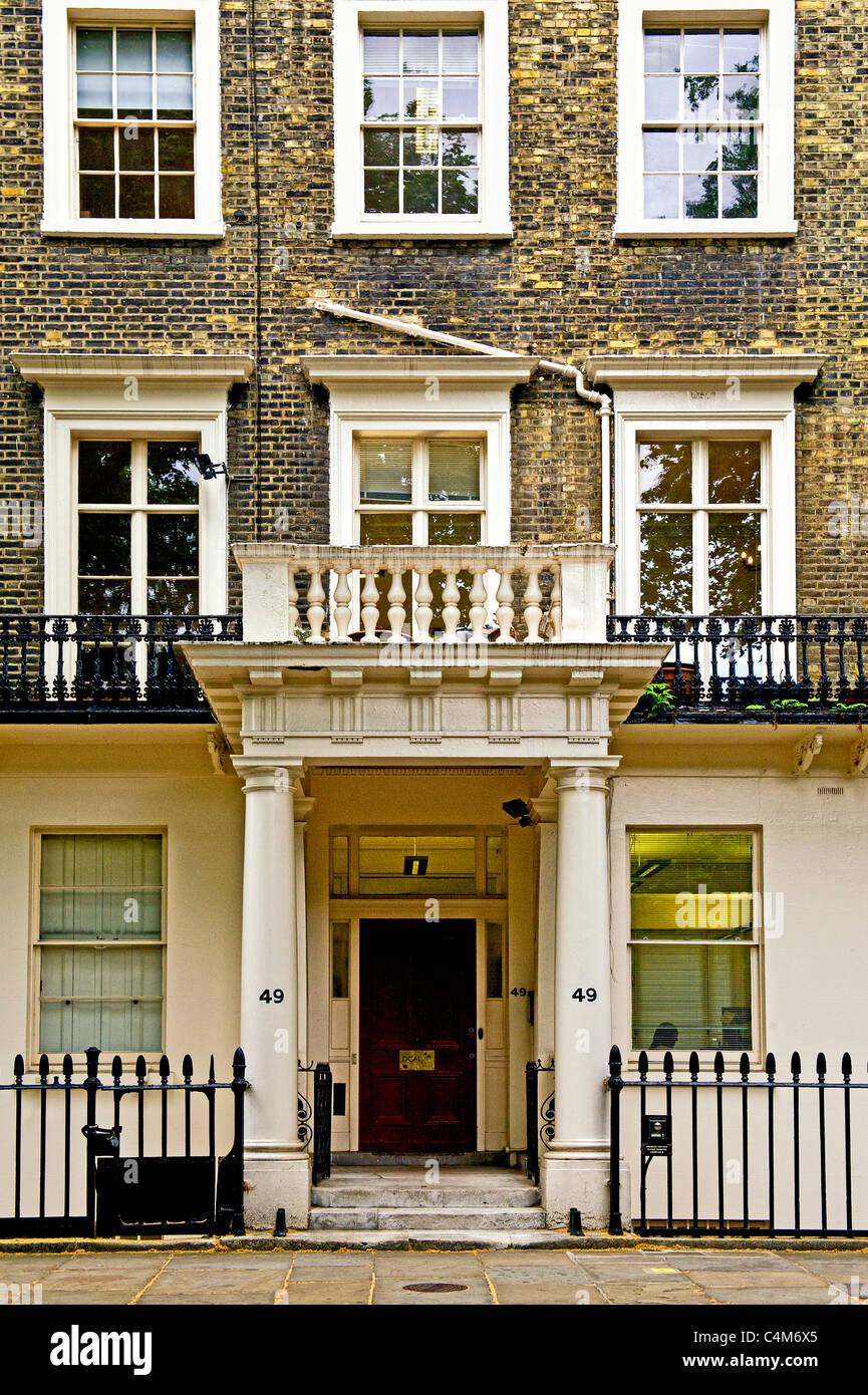 Gordon Square à Londres - le coeur de Bloomsbury, accueil du Bloomsbury Group; Wohnort bloomsbury der Gruppe Banque D'Images