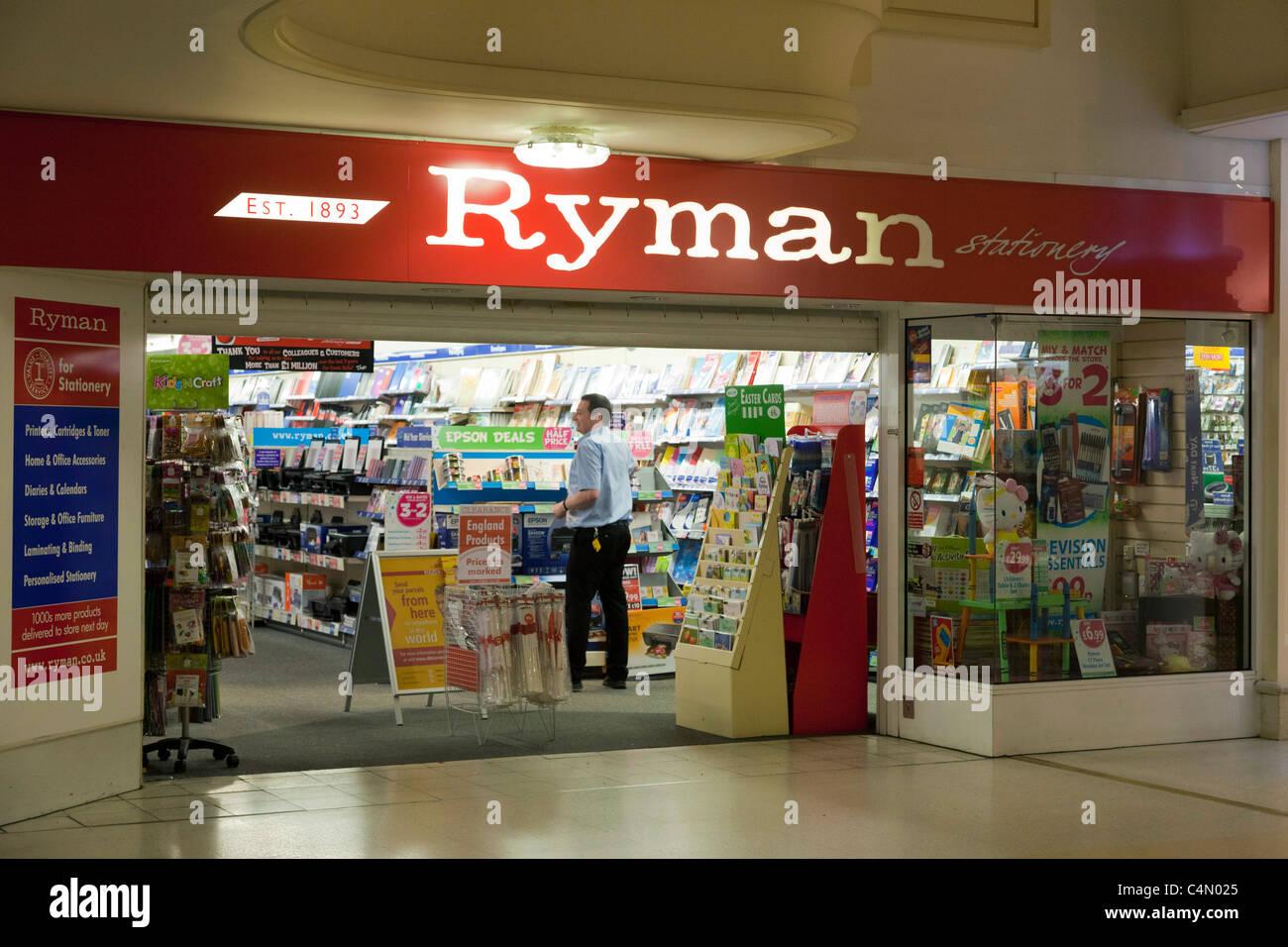 Ryman papeterie en UK Photo Stock