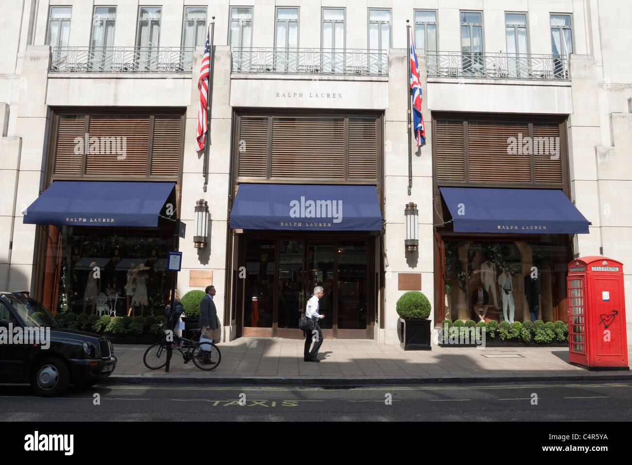Ralph Lauren boutique store front, New Bond Street, Londres, Angleterre 8b441f3dd21