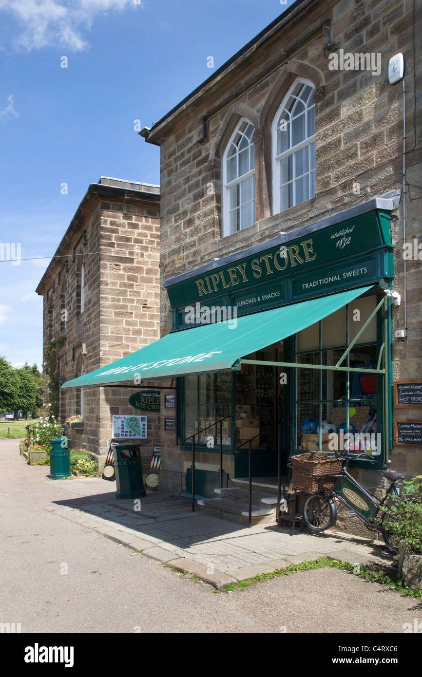 Magasin du Village à Ripley North Yorkshire Angleterre Photo Stock