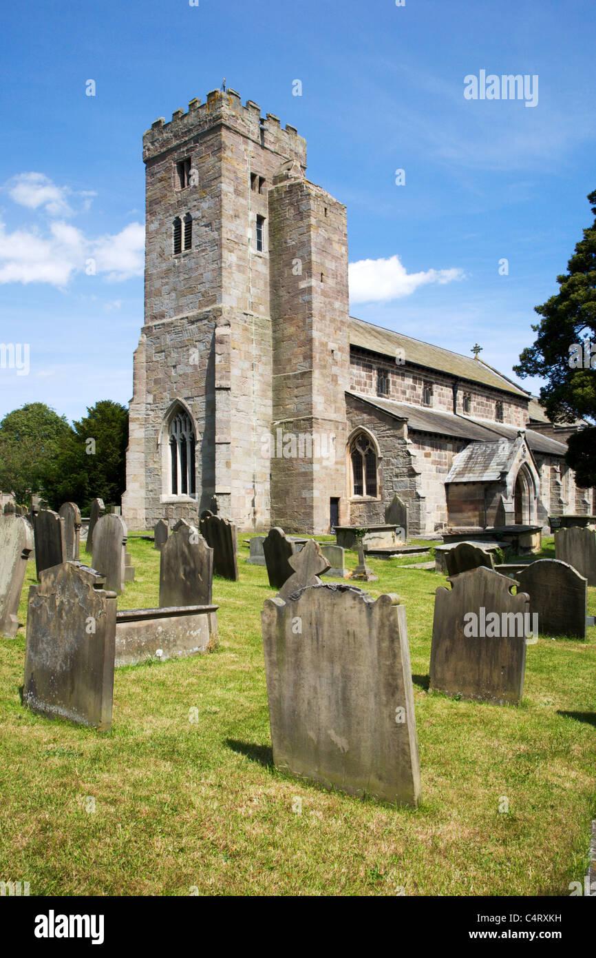 Tous les Saints de l'église paroissiale Ripley North Yorkshire Angleterre Photo Stock