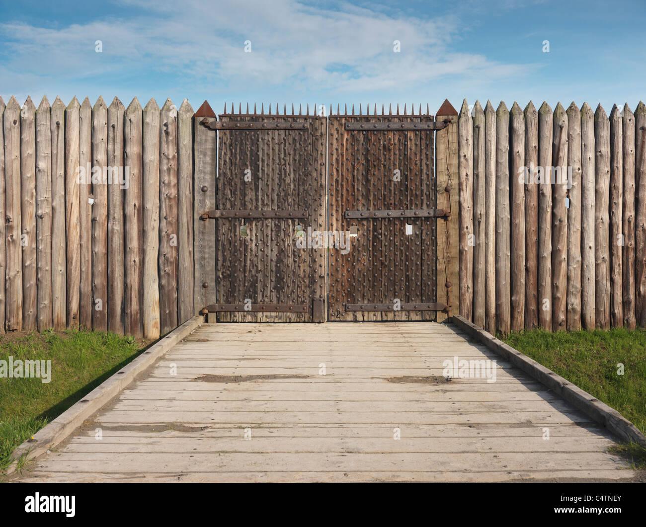Portes de Fort George, Lieu historique national à Niagara-on-the-Lake, Ontario, Canada. Banque D'Images