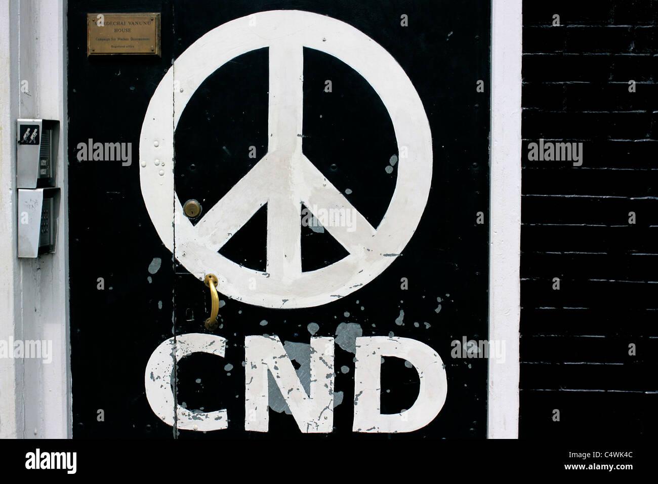 Le bureau national de la CND à Holloway, Londres Photo Stock
