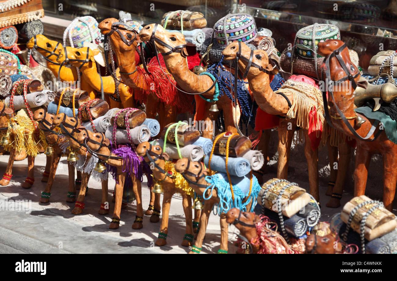 Souvenirs de chameau à Dubaï, Émirats Arabes Unis Photo Stock