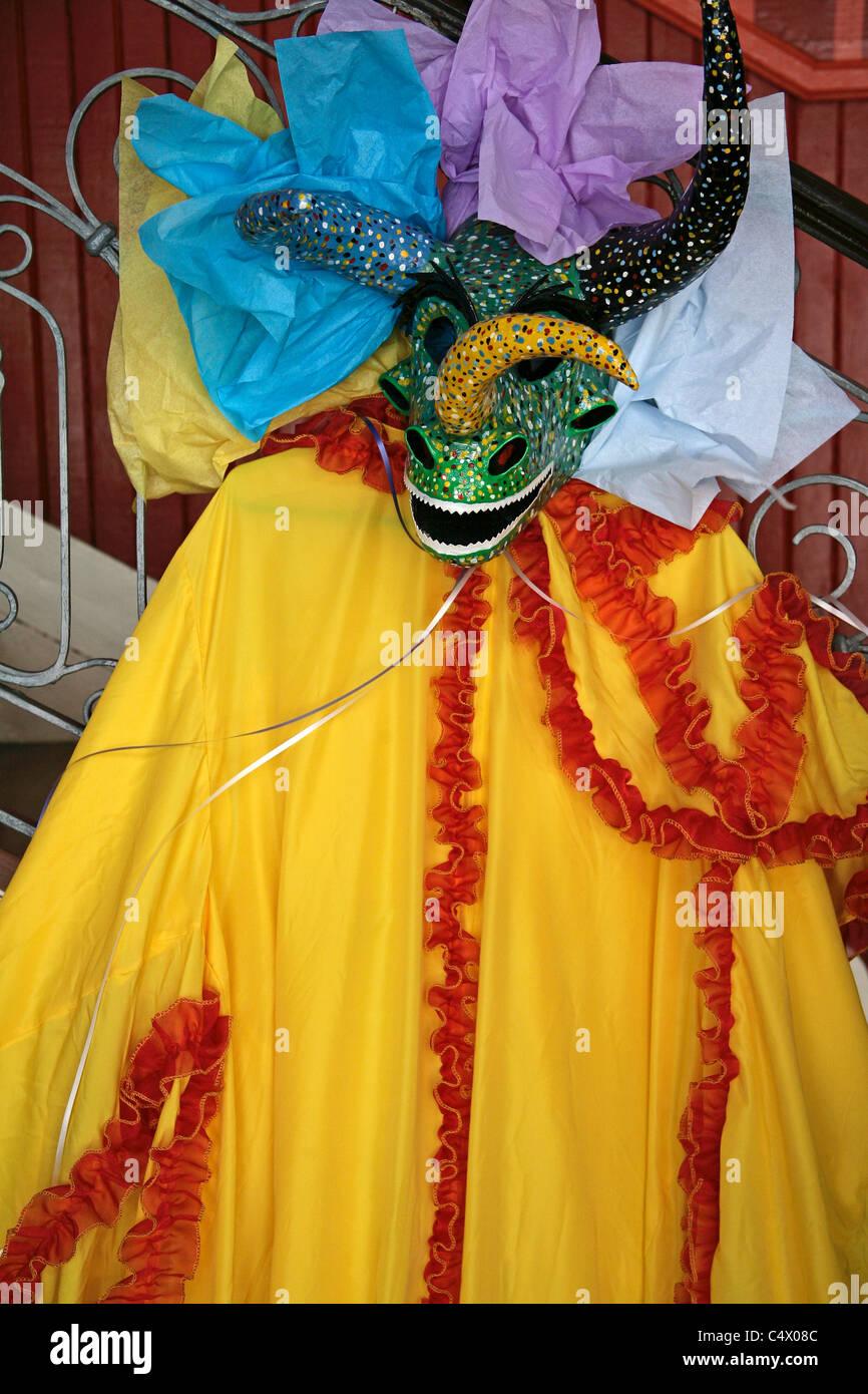 Ponce Puerto Rico Carnival vejigantes masques démon et signer pour le festival annuel Photo Stock