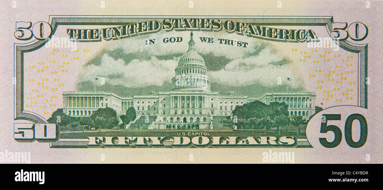 50 cinquante dollars dollar bill note notes factures Photo Stock