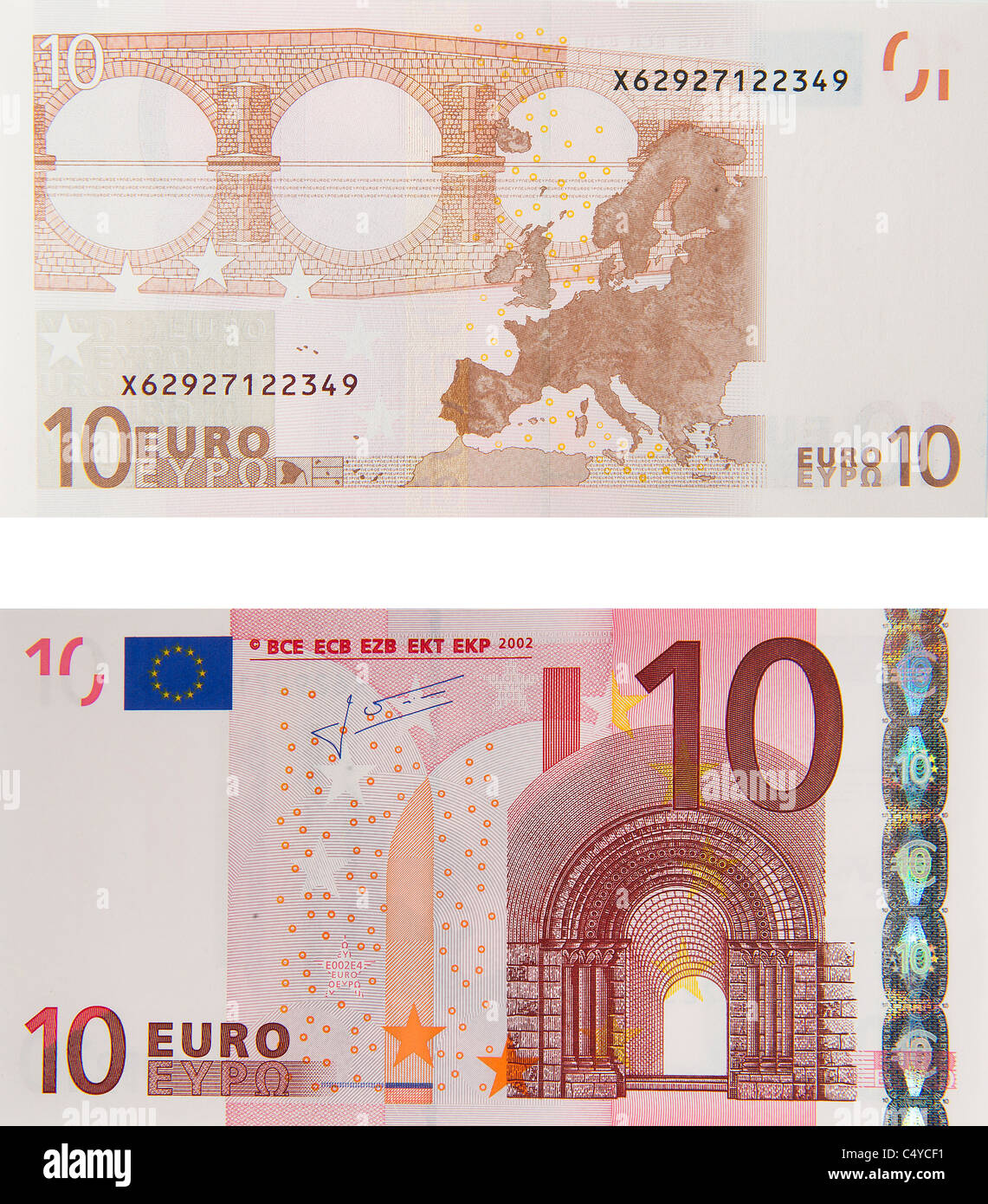 10 euros 10 euros note loi notes Photo Stock