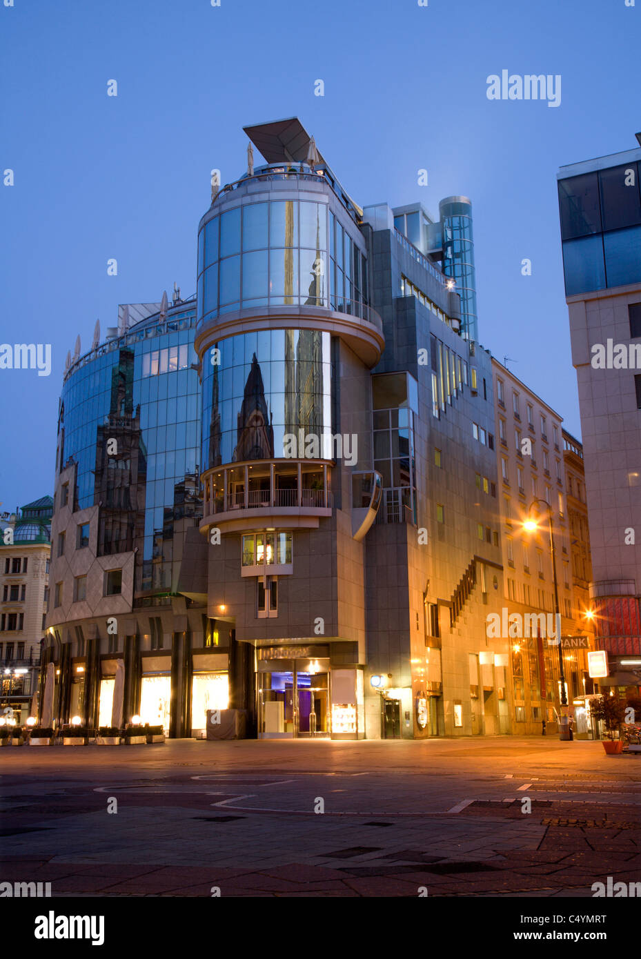 Vienne - l'architecture moderne dans le centre Photo Stock