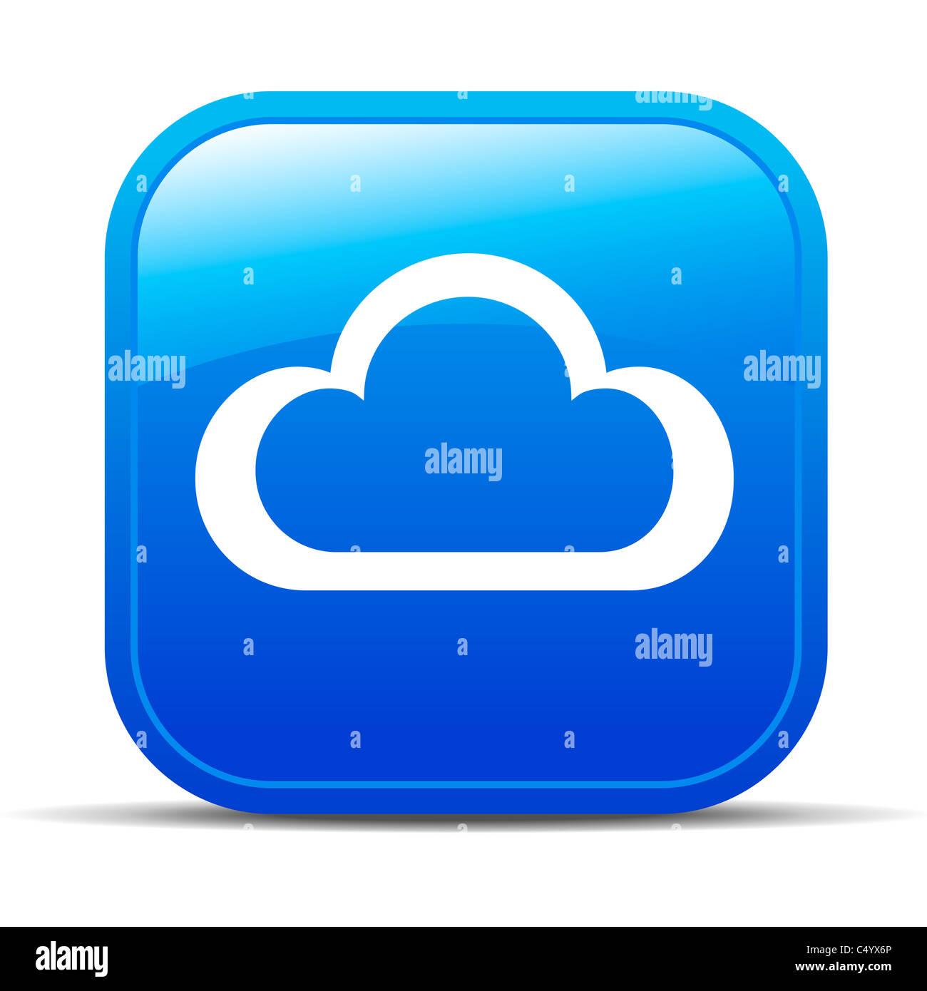 Icône Bouton Internet Cloud Computing Photo Stock