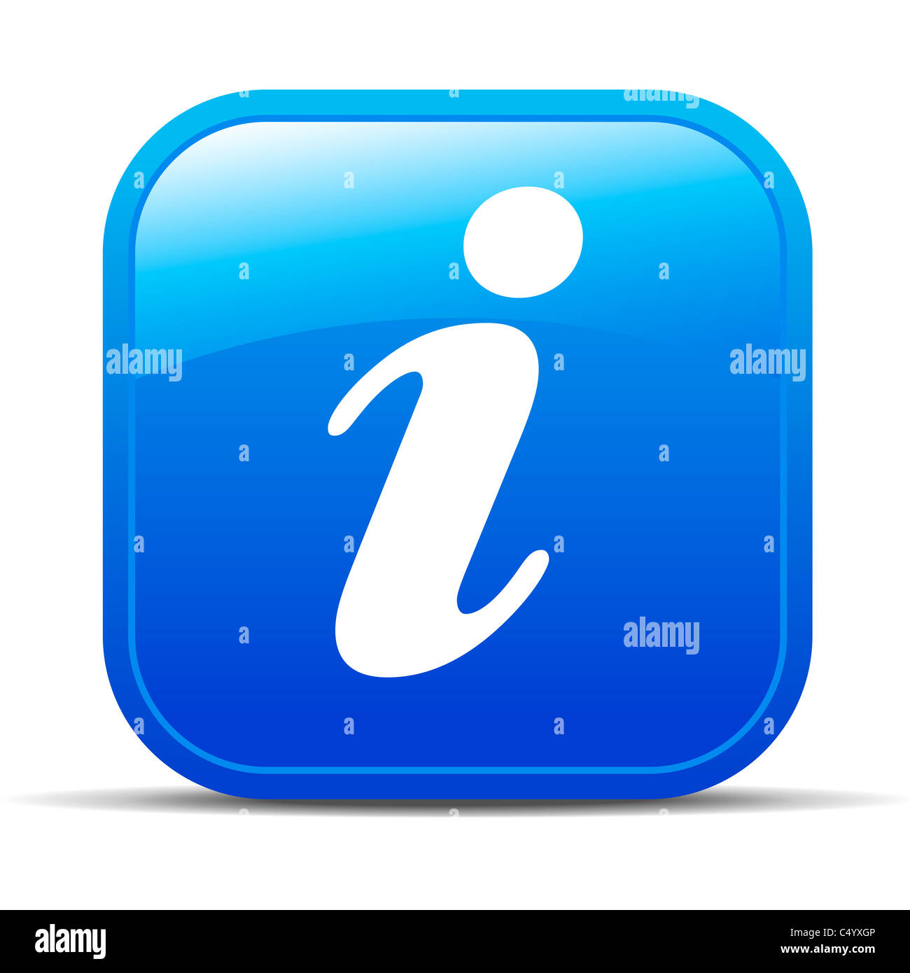 Icône info Photo Stock