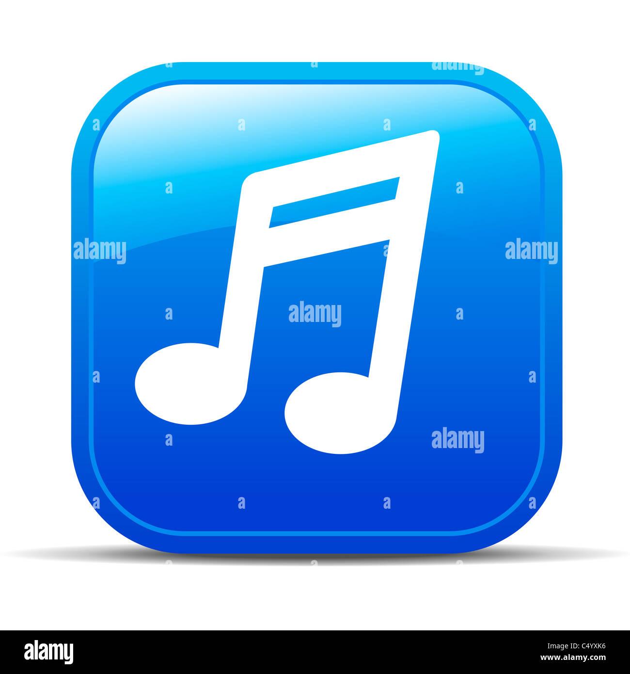 Icône Bouton Internet Musique Photo Stock