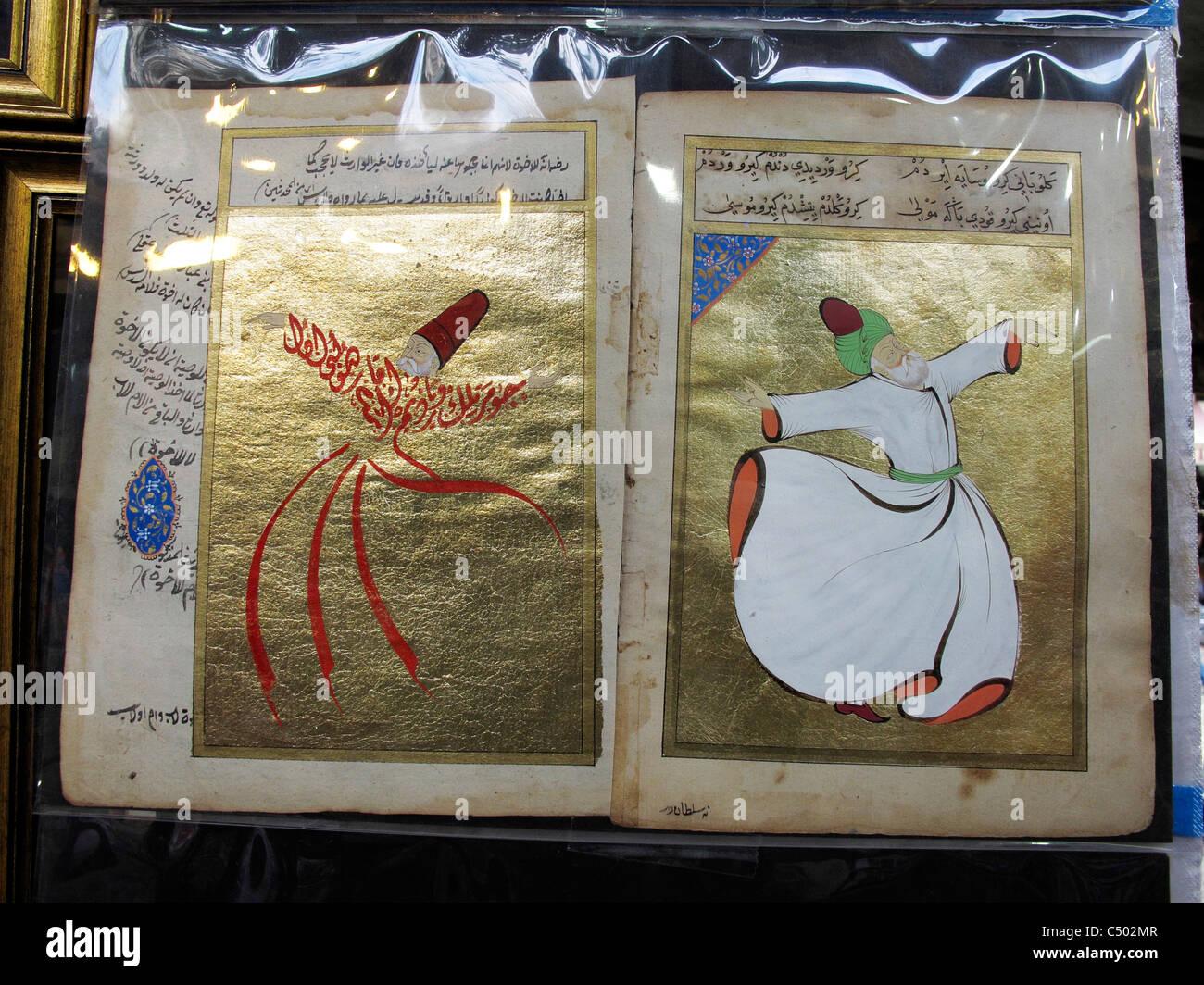 Turquie Istanbul Sultanahmet cérémonie Sema Derviches tourneurs turcs Banque D'Images