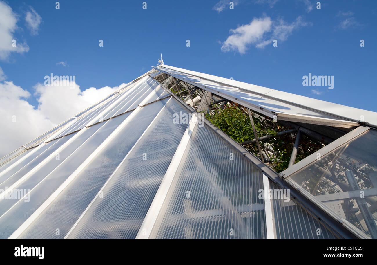 Système De Ventilation Serre Utilise Des Fenêtres En Verre à Moteur