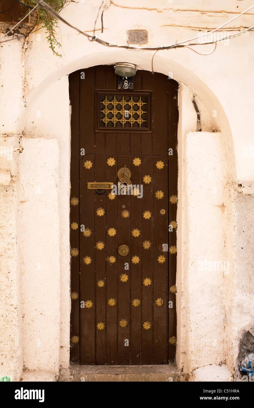 Porte dans la Casbah, Alger, Algérie, Afrique du Nord Photo Stock