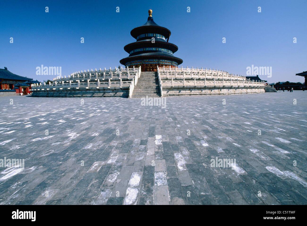 Salle de Prière pour les bonnes récoltes , Temple du Ciel, Beijing, Chine Photo Stock
