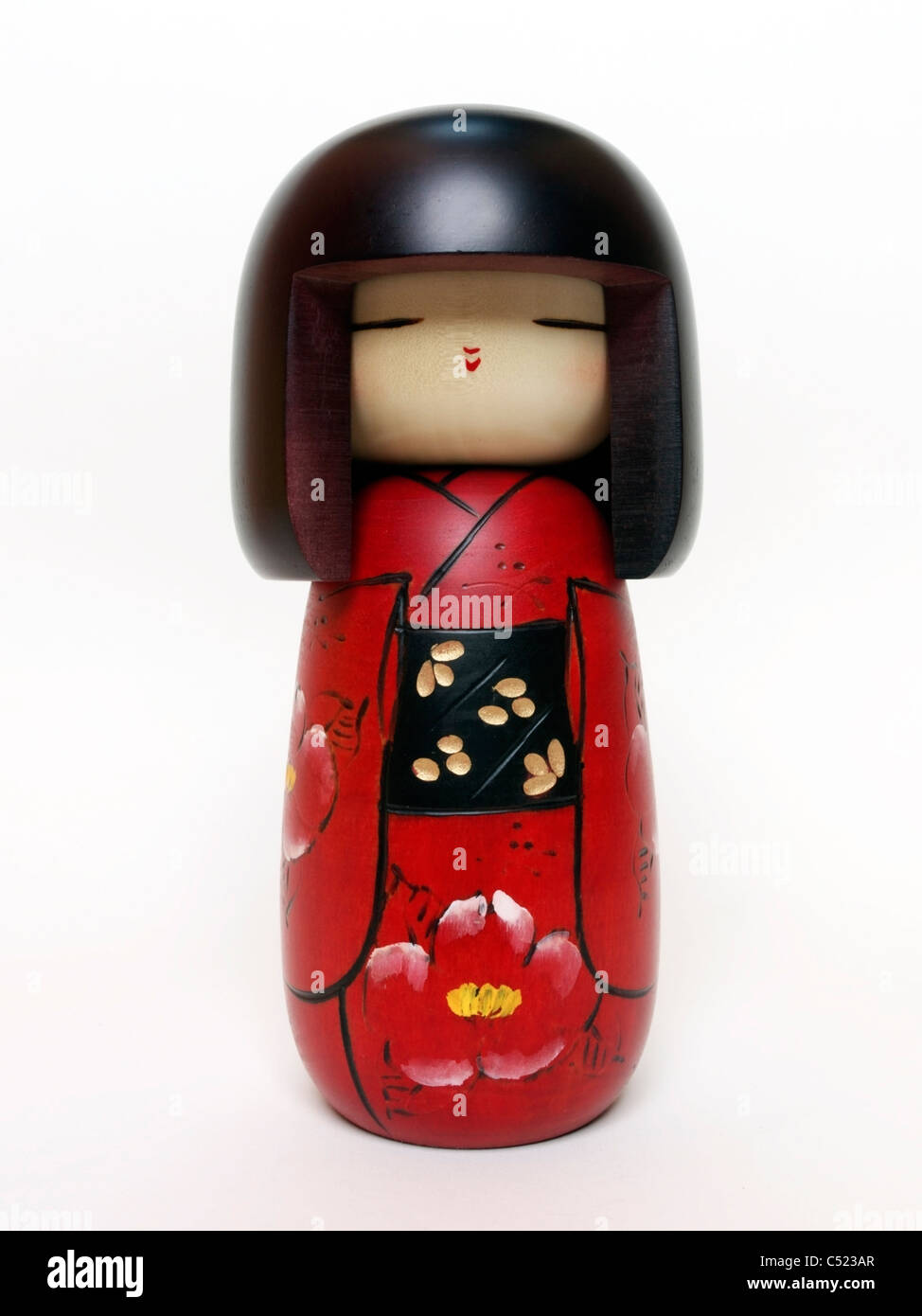 Poupée Kokeshi japonaise Photo Stock
