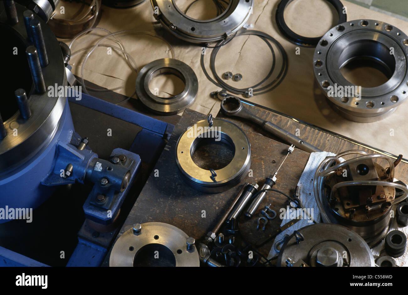 L'inspection mécanique bagues d'équiper. Dvlpnt. Lab Laboratoire nucléaire de Chalk River, Ontario, Canada Banque D'Images