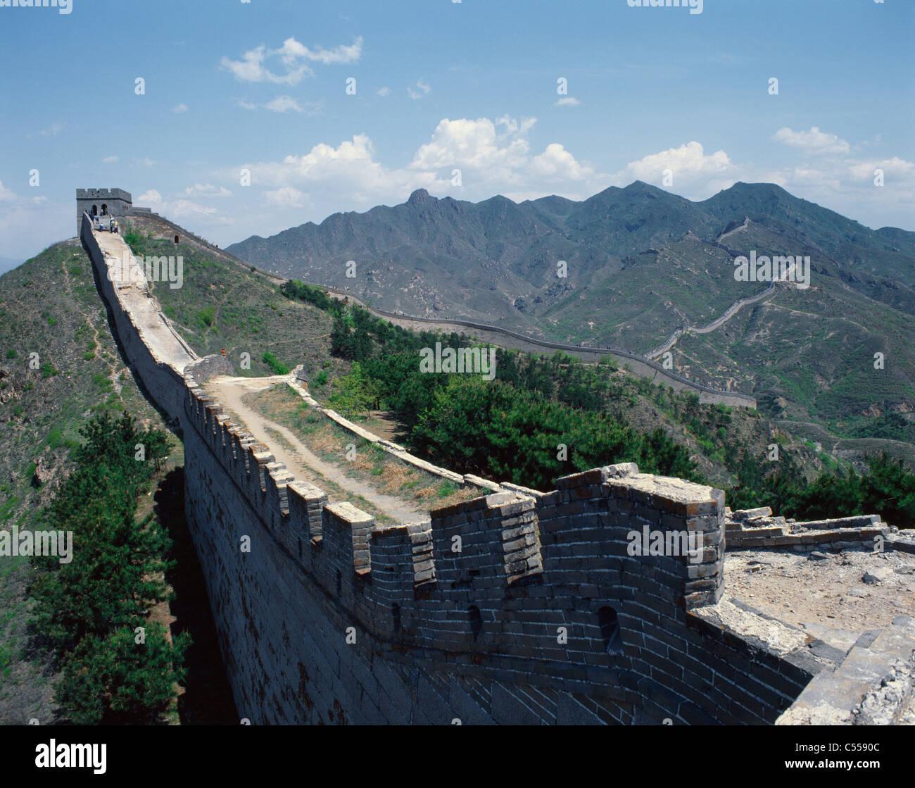 La Chine, Grande Muraille de Chine Banque D'Images