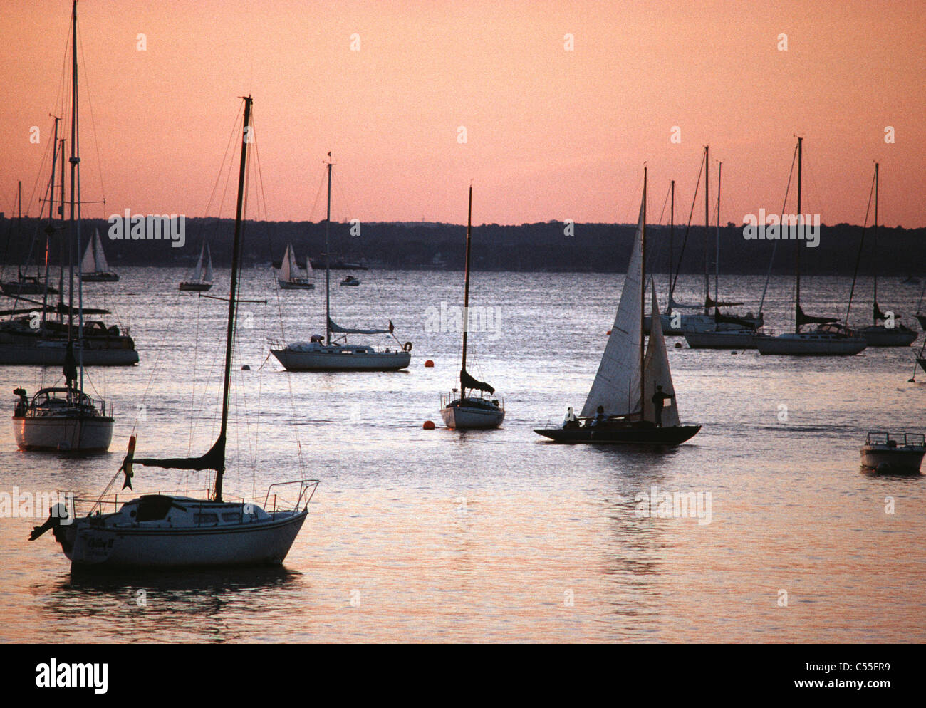 Hempstead Harbour Long Island New York USA Banque D'Images