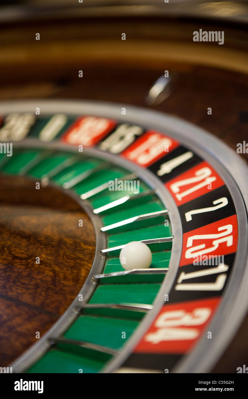 Roulette table close-up Photo Stock