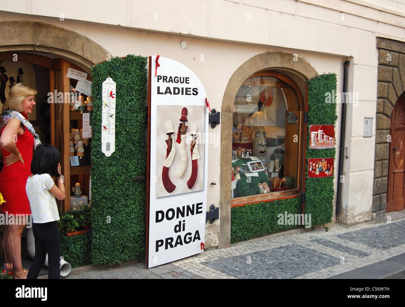 Donne di Praga shop, Prague, République Tchèque, Europe de l'Est. Photo Stock