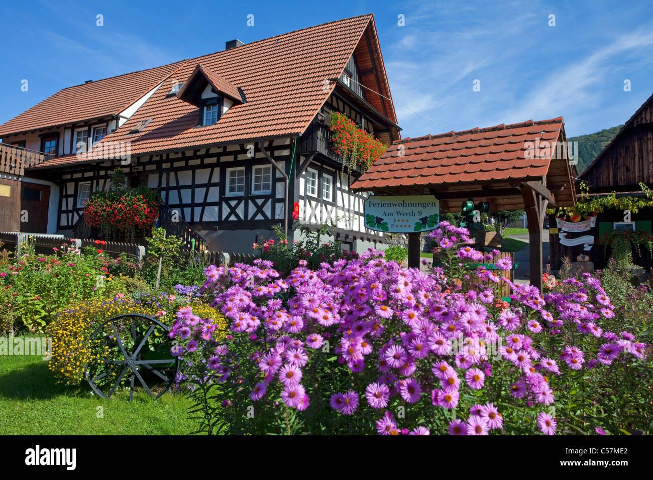 Bauernhaus und Bauerngarten, Blumengarten dans Sasbachwalden ...