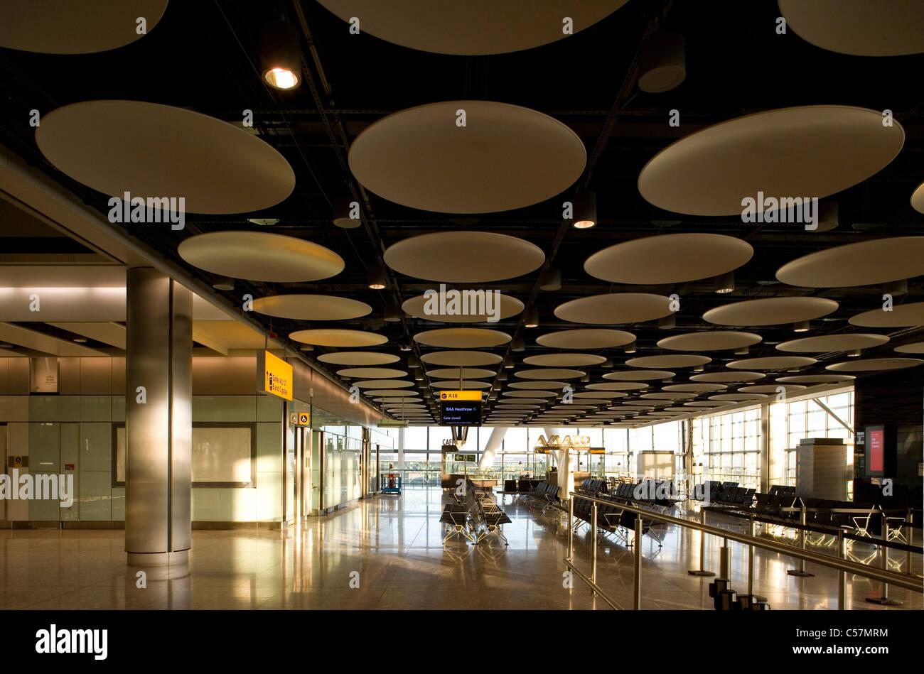 BAA, T5, terminal 5, Heathrow Airport, Londres. Photo Stock