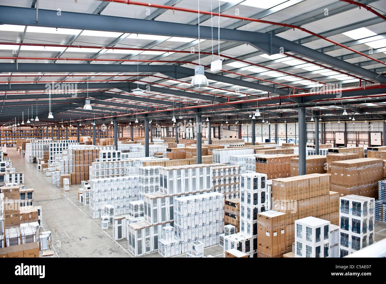 4 stockage de l'entrepôt Photo Stock