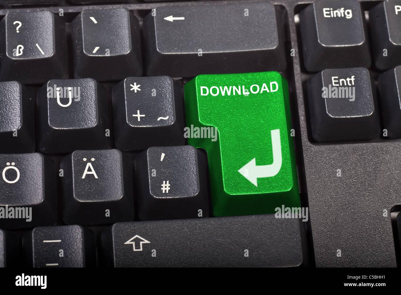 Télécharger bouton Photo Stock