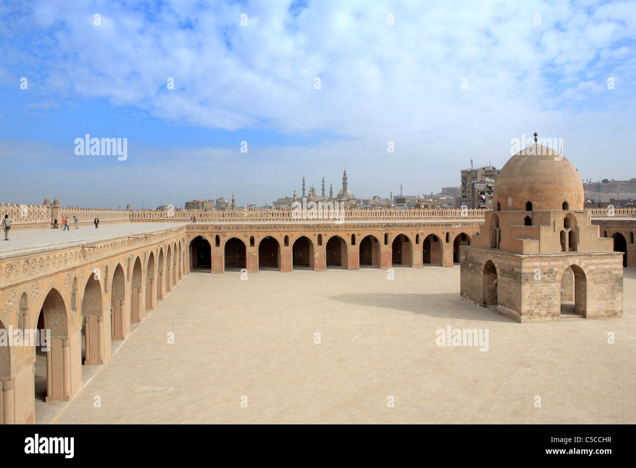 La mosquée Ibn Tulun (879), Le Caire, Egypte Photo Stock