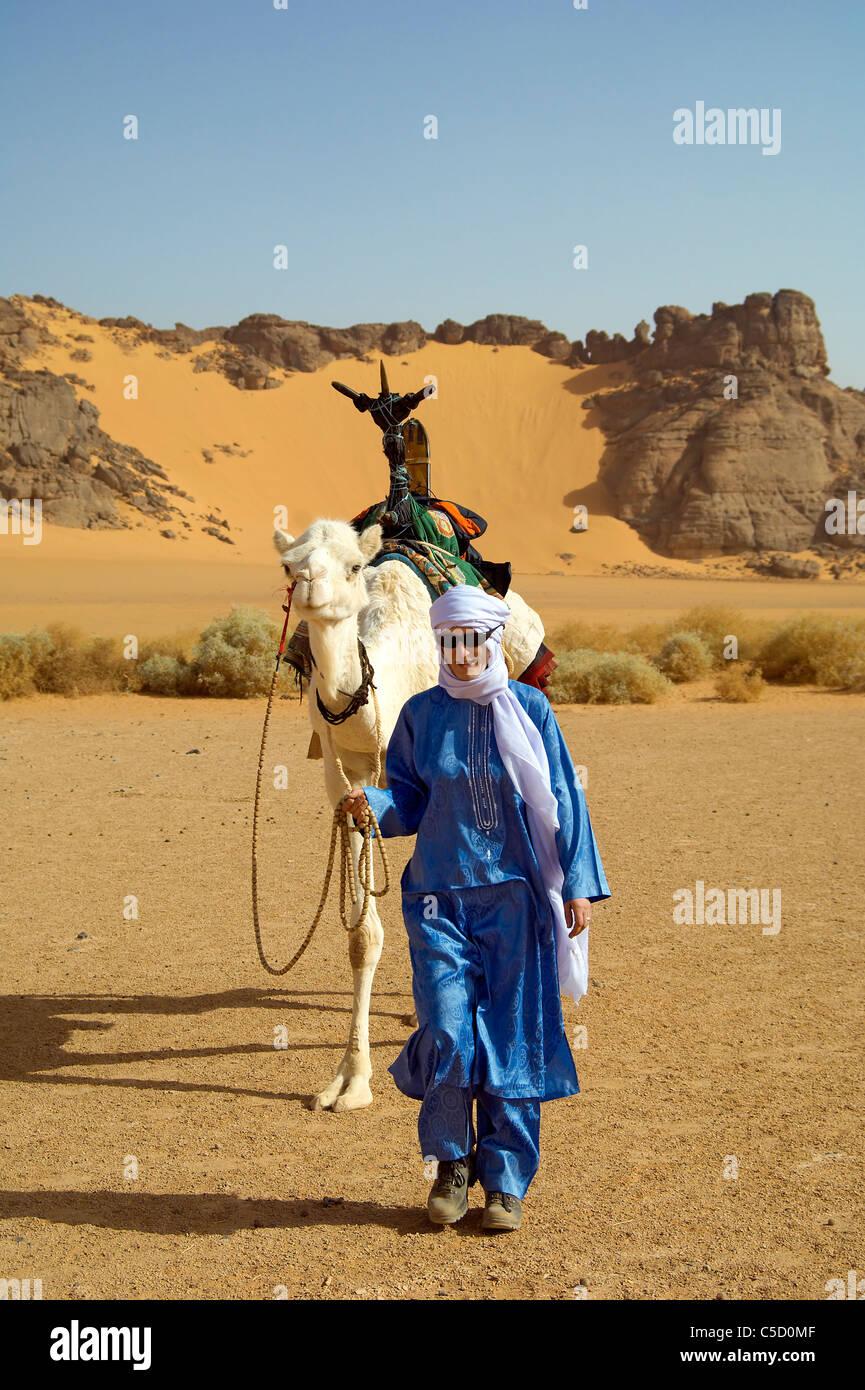 30x30cm Femme Tuareg Marché Désert Ane Poster Africain #44710