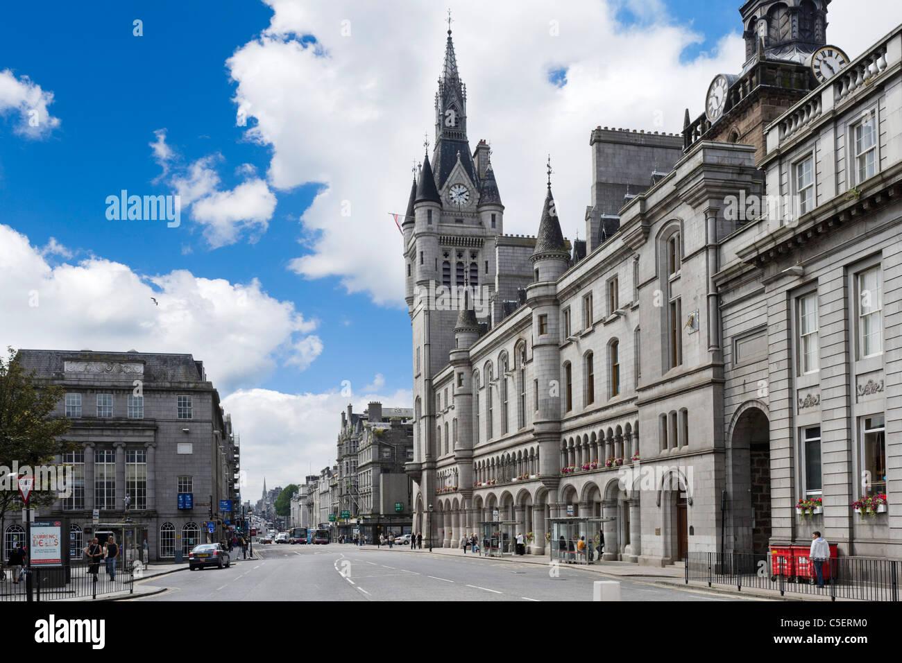 Union Street, au centre-ville, Aberdeen, Écosse, Royaume-Uni Photo Stock