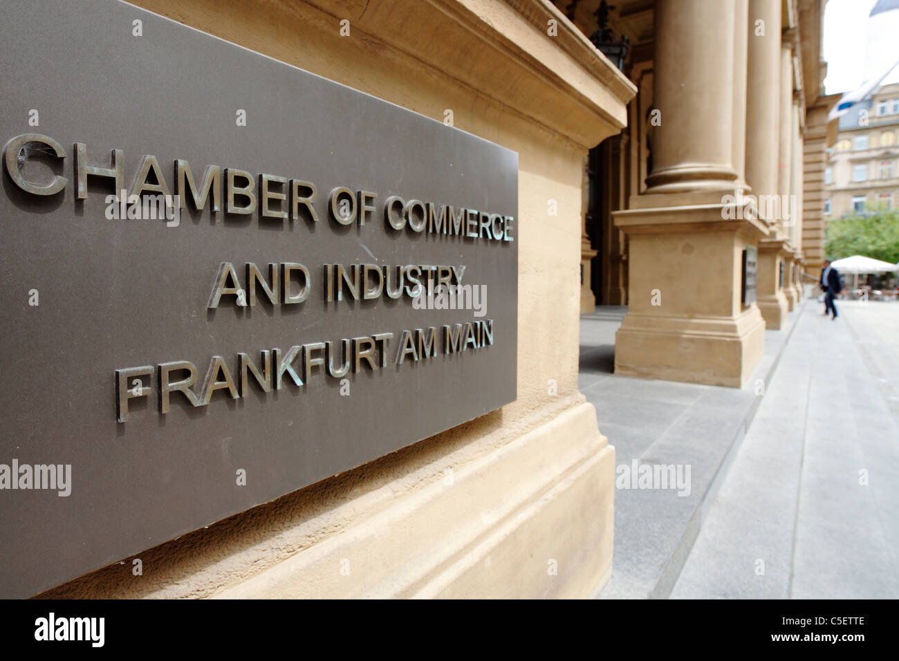 Chambre de Commerce et d'Industrie de Frankfurt am Main, Allemagne Photo Stock