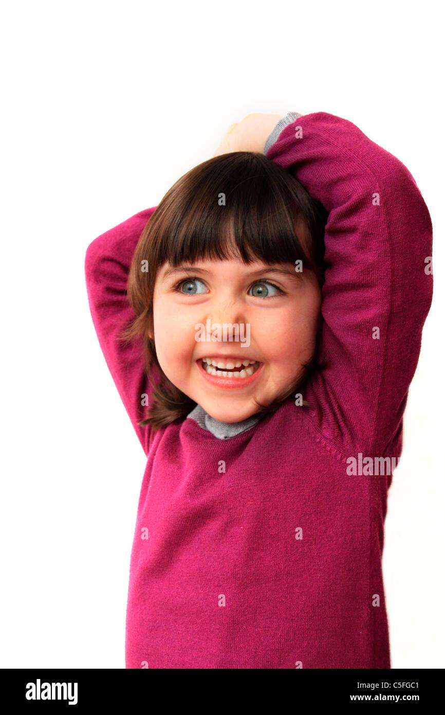 Jeune fille riant Photo Stock