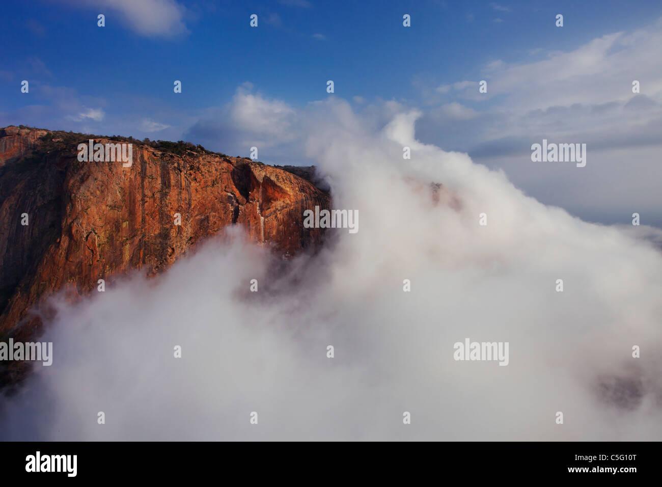 Ololokwe mountain est un site remarquable dans le nord du Kenya. Photo Stock