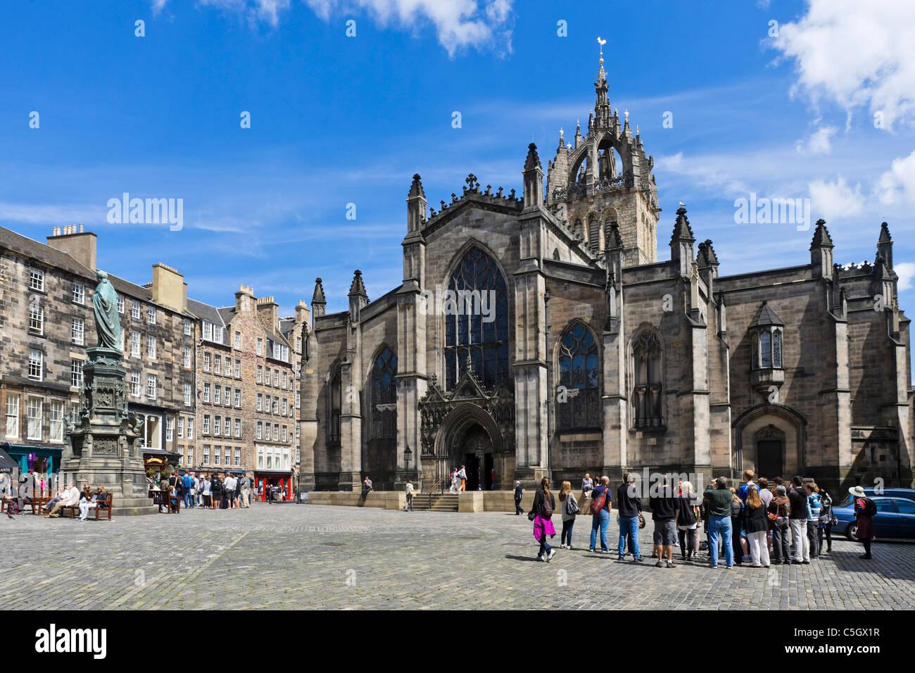 La cathédrale St Giles sur le Royal Mile, Édimbourg, Écosse, Royaume-Uni Photo Stock