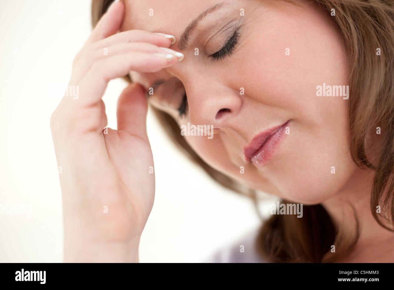 Femme déprimée Photo Stock