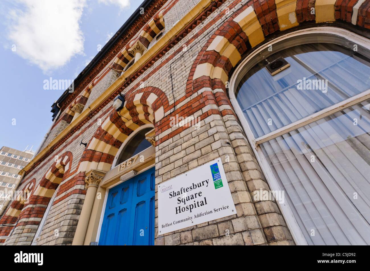 L'hôpital de Shaftesbury, Belfast, spécialisée dans l'alcool et des toxicomanies et de la Photo Stock