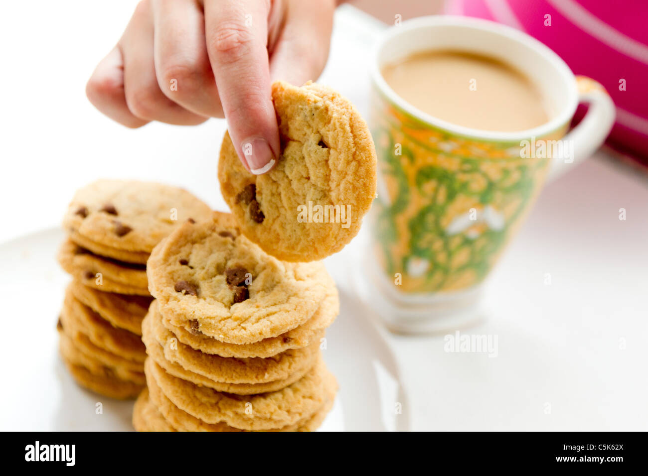 Assiette de biscuits Photo Stock