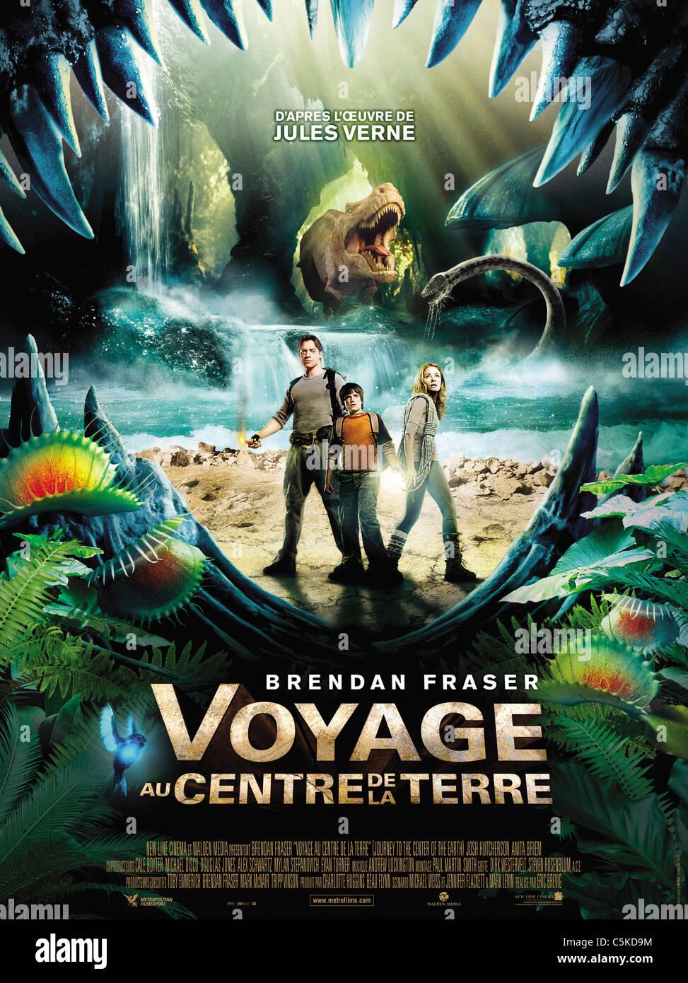 Voyage au centre de la Terre Année: 2008 USA Affiche, Poster Directeur: Eric Brevig Photo Stock