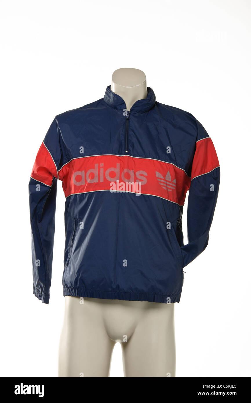 De Les Années D Vintage Sportswear 80 Banque Veste Adidas Cagoule B4nIIP