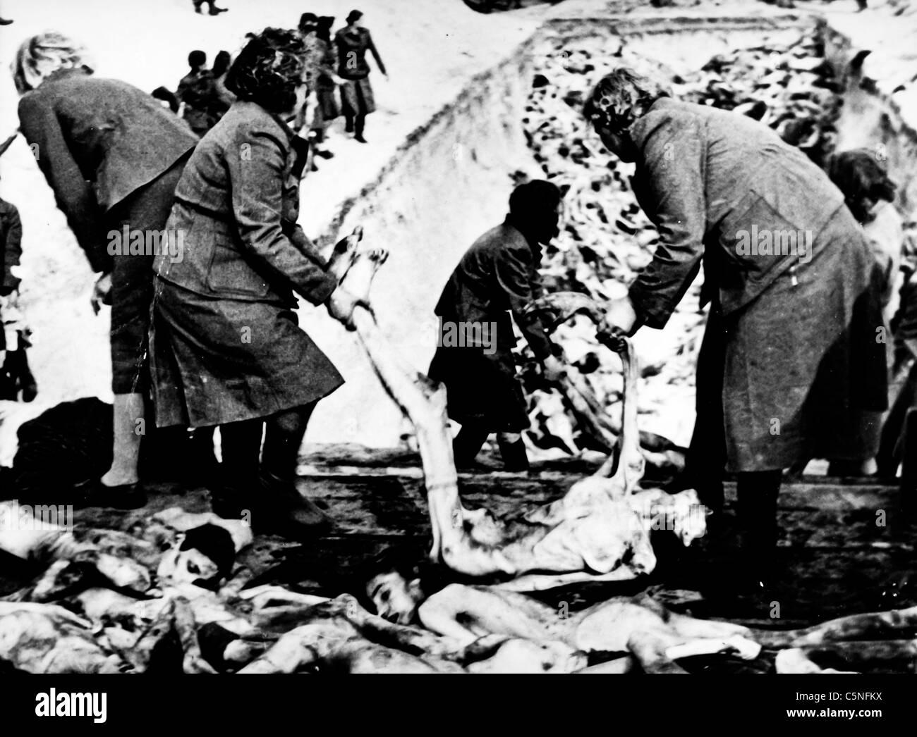 Camp de concentration de Belsen, 1945 Photo Stock