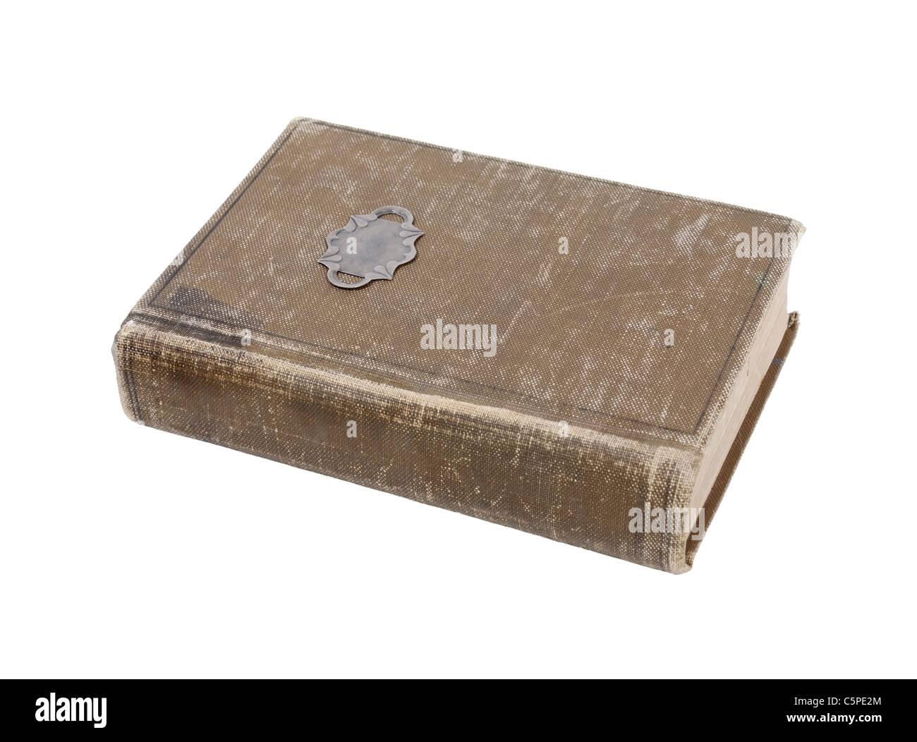 Bien Aimé livre ancien avec couvercle usé - chemin inclus Photo Stock