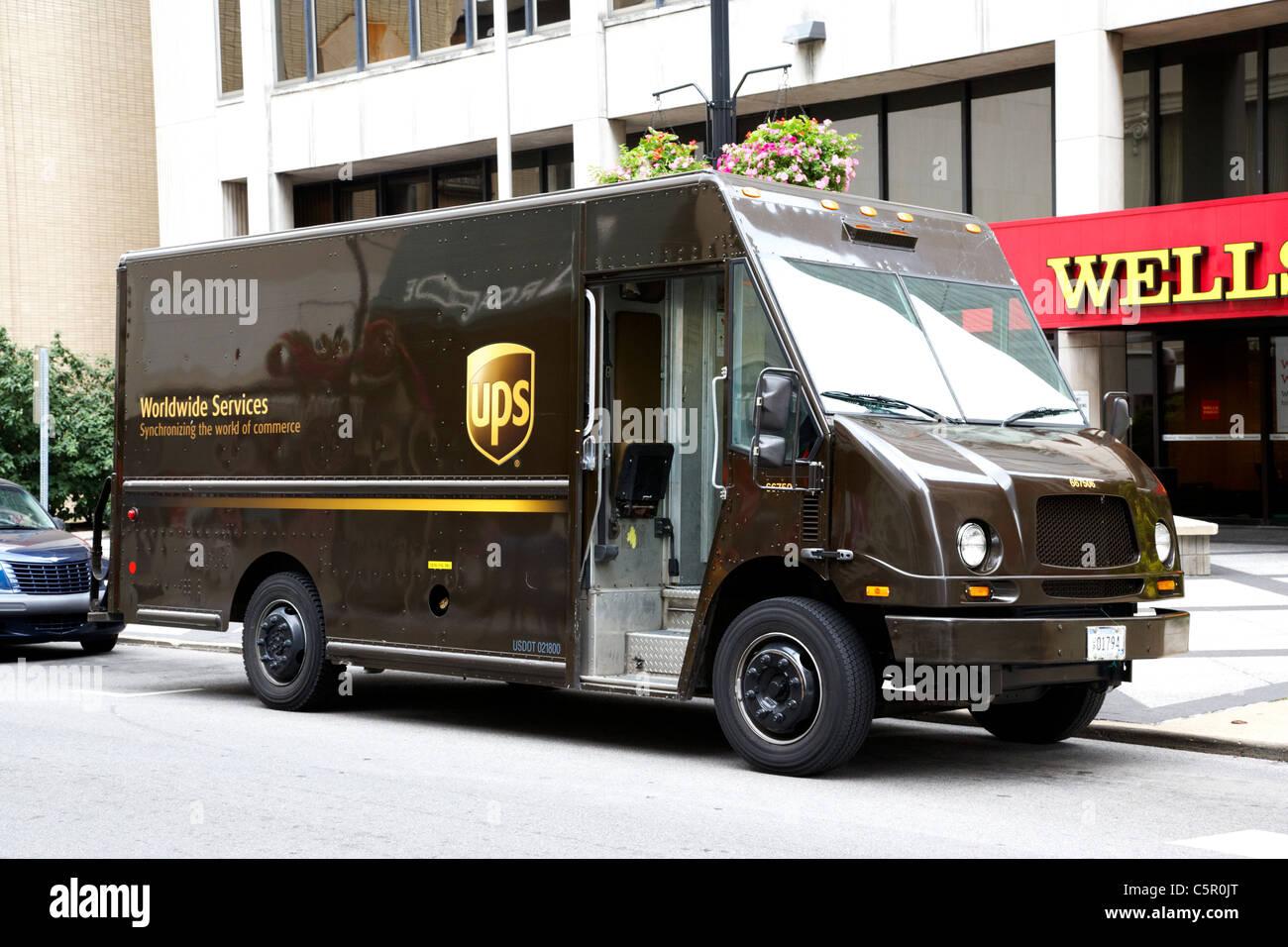 Camion de livraison UPS Nashville Tennessee USA Photo Stock
