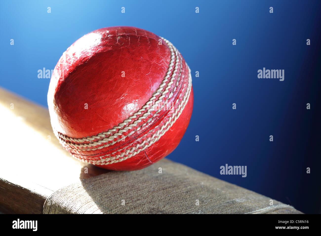 Le Cricket bat and ball Photo Stock