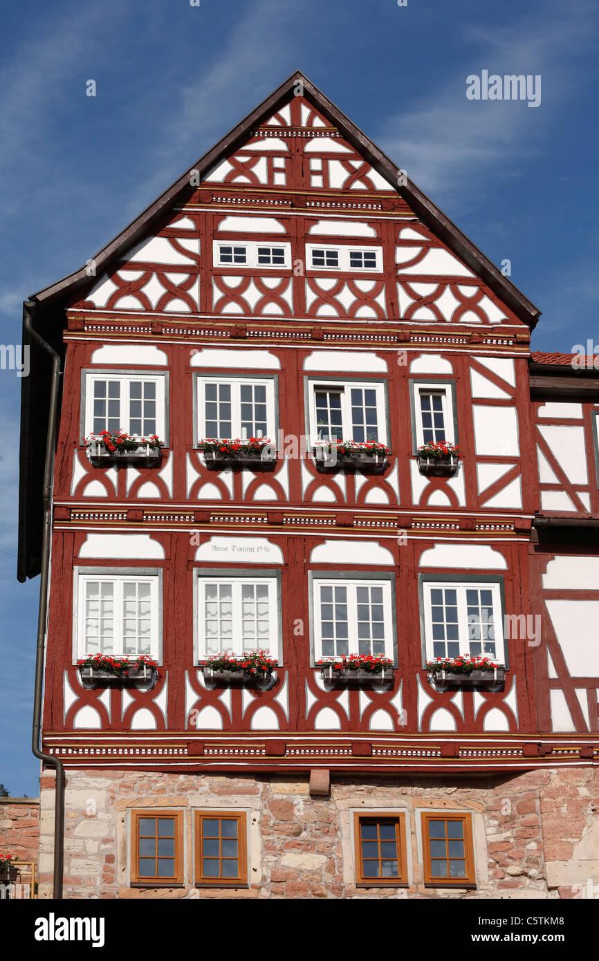Allemagne, Thuringe, Rhoen, vue d'maienhof dans wasungen Banque D'Images